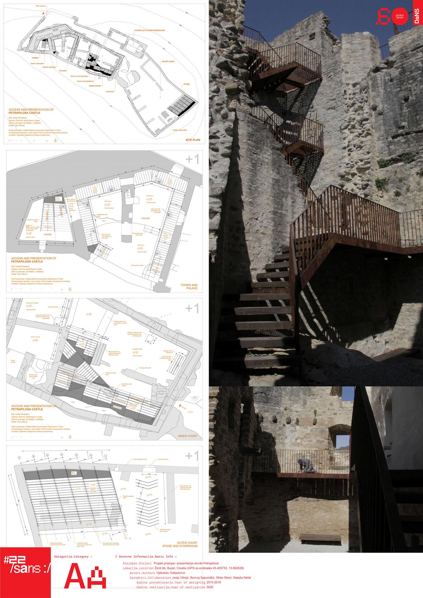 Projekt pristupa i prezentacije utvrde Petrapilosa // Project of the approach and the presentation of the Petrapilos fortress