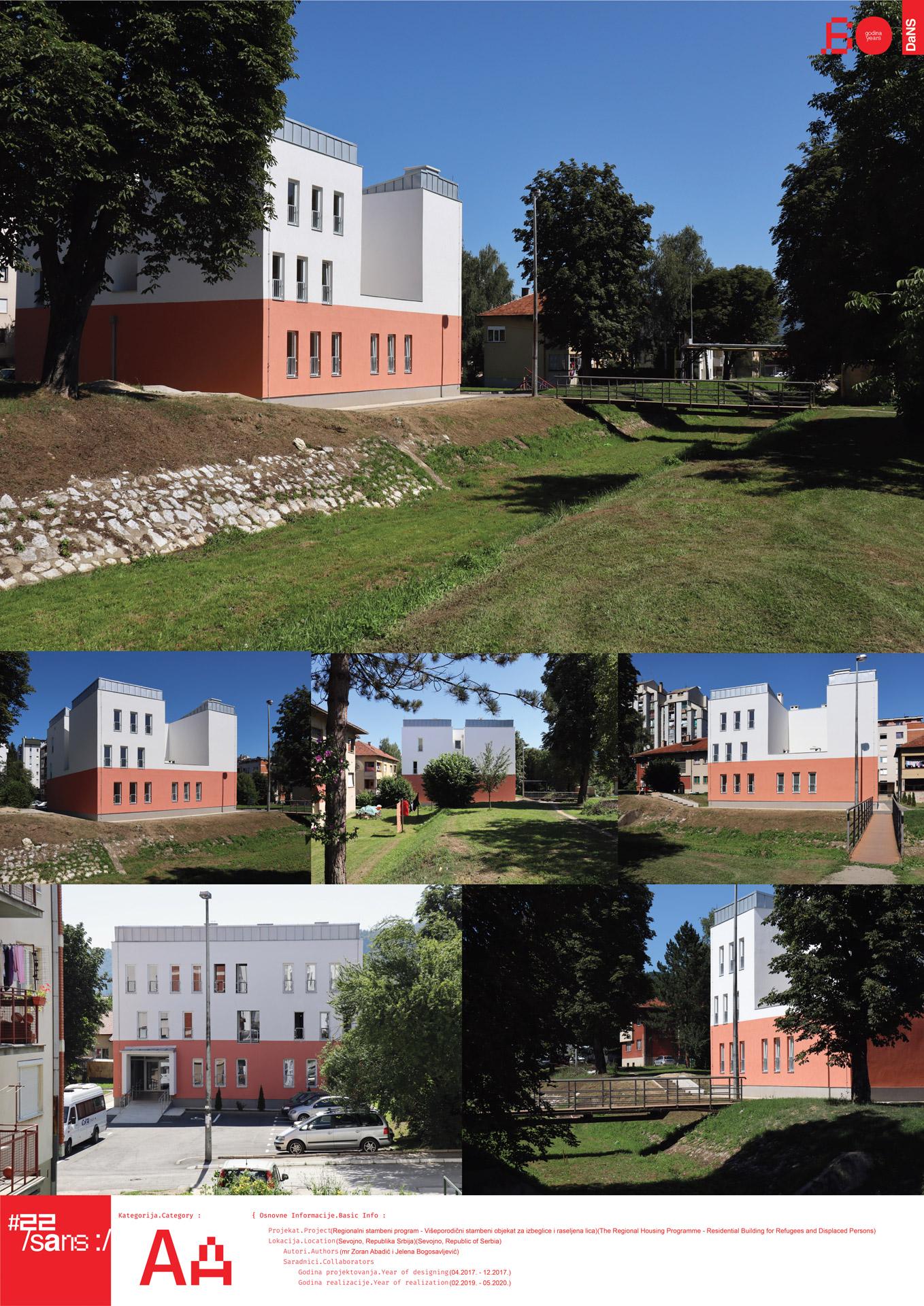 "<p class=""naslov-br"">aa13</p>Višeporodični stambeni objekat za izbeglice i raseljena lica // The Regional Housing Programme – Residental Building for Refugees and Displaced Persons"