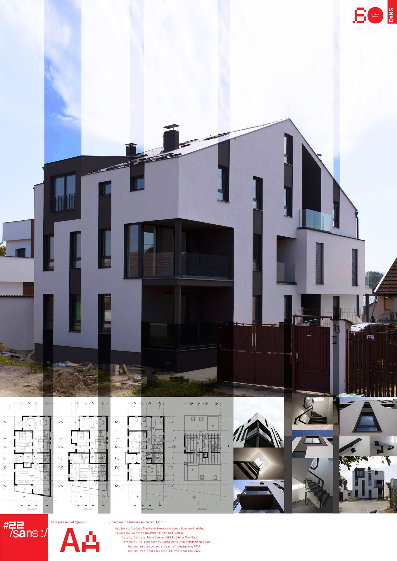 "<p class=""naslov-br"">aa25</p>Stambeni objekat sa 4 stana - 18DOC // Residental Building with 4 Apartments - 18DOC"