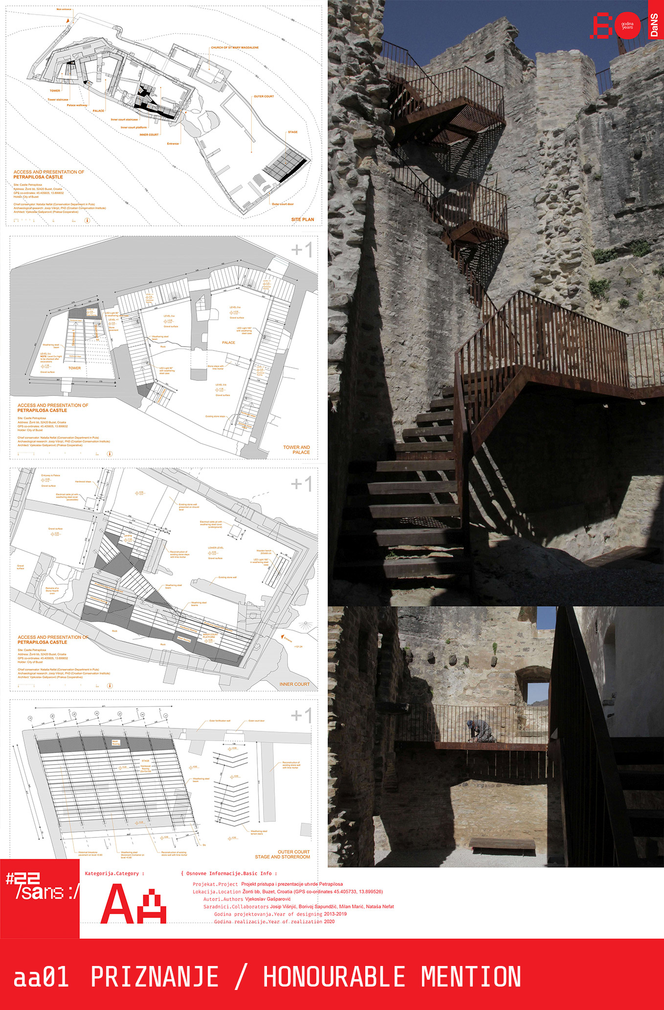 "<p class=""naslov-br"">aa01</p>Projekt pristupa i prezentacije utvrde Petrapilosa // Project of the approach and the presentation of the Petrapilos fortress"