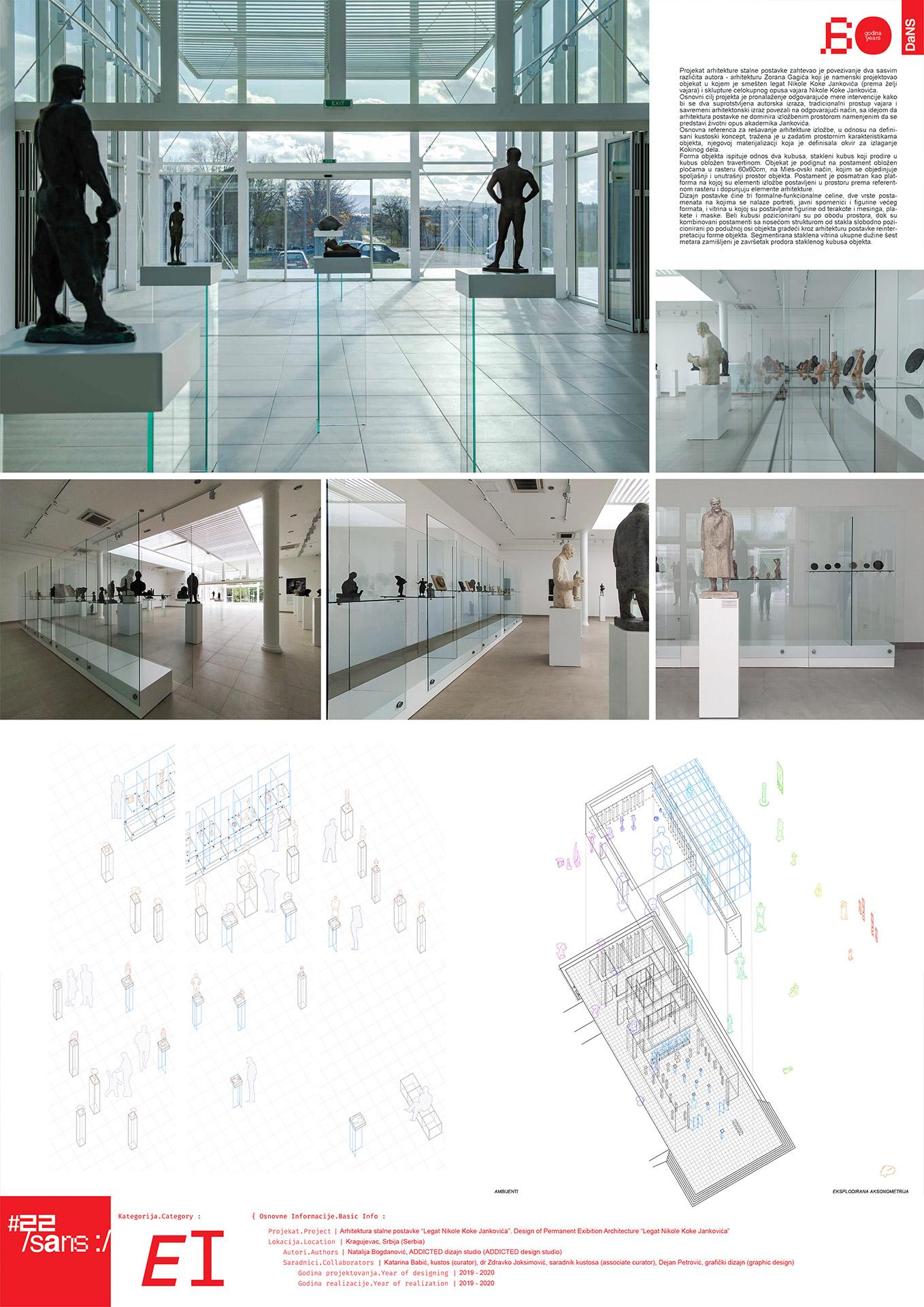 "<p class=""naslov-br"">ei32</p>Arhitektura stalne postavke - Legat ""Nikola Koka Janković"" // Architecture of the Permanent Setting - ""Nikola Koka Janković"" Legacy"