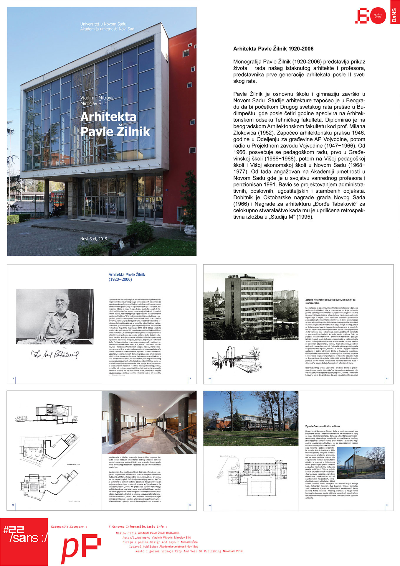 Arhitekta Pavle Žilnik (1920-2006) // Architect Pavle Žilnik (1920-2006)