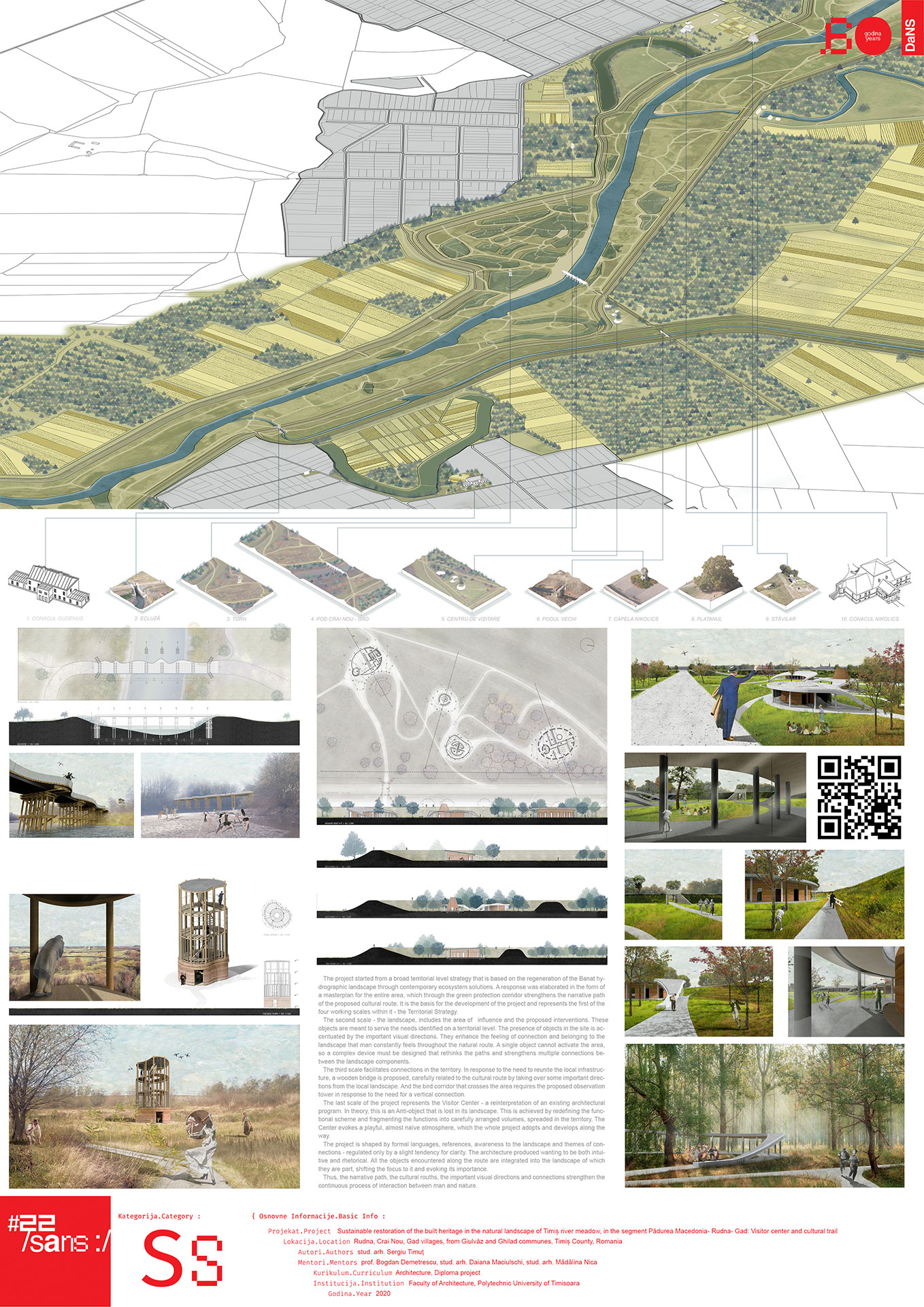 Sustainable restoration of the built heritage in the natural landscape of Timiș river meadow, in the segment Pădurea Macedonia- Rudna- Gad: Visitor center and cultural trail
