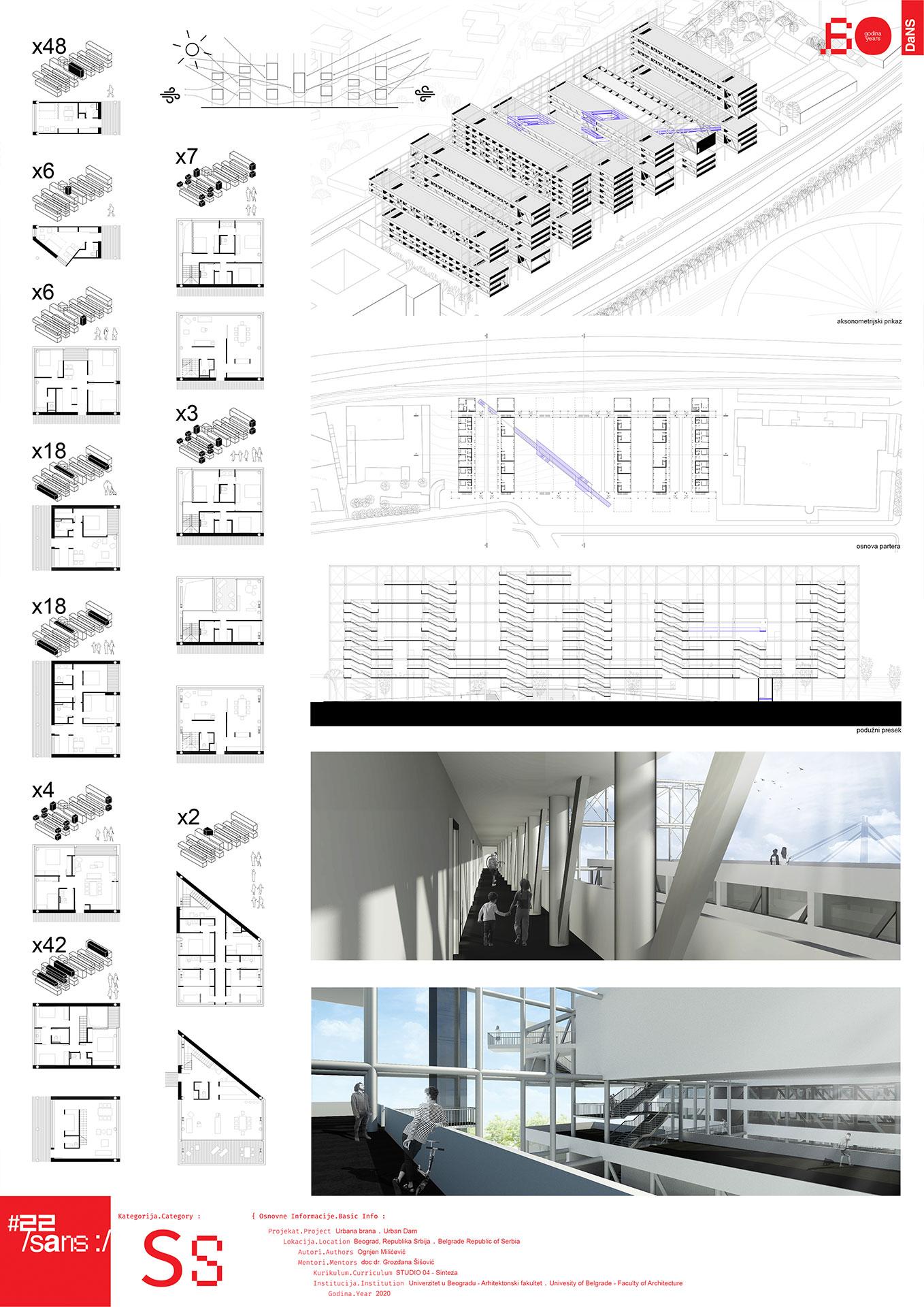 "<p class=""naslov-br"">ss50</p>Urbana brana - studio projekat 4 // Urban Dam - Studio project 4"
