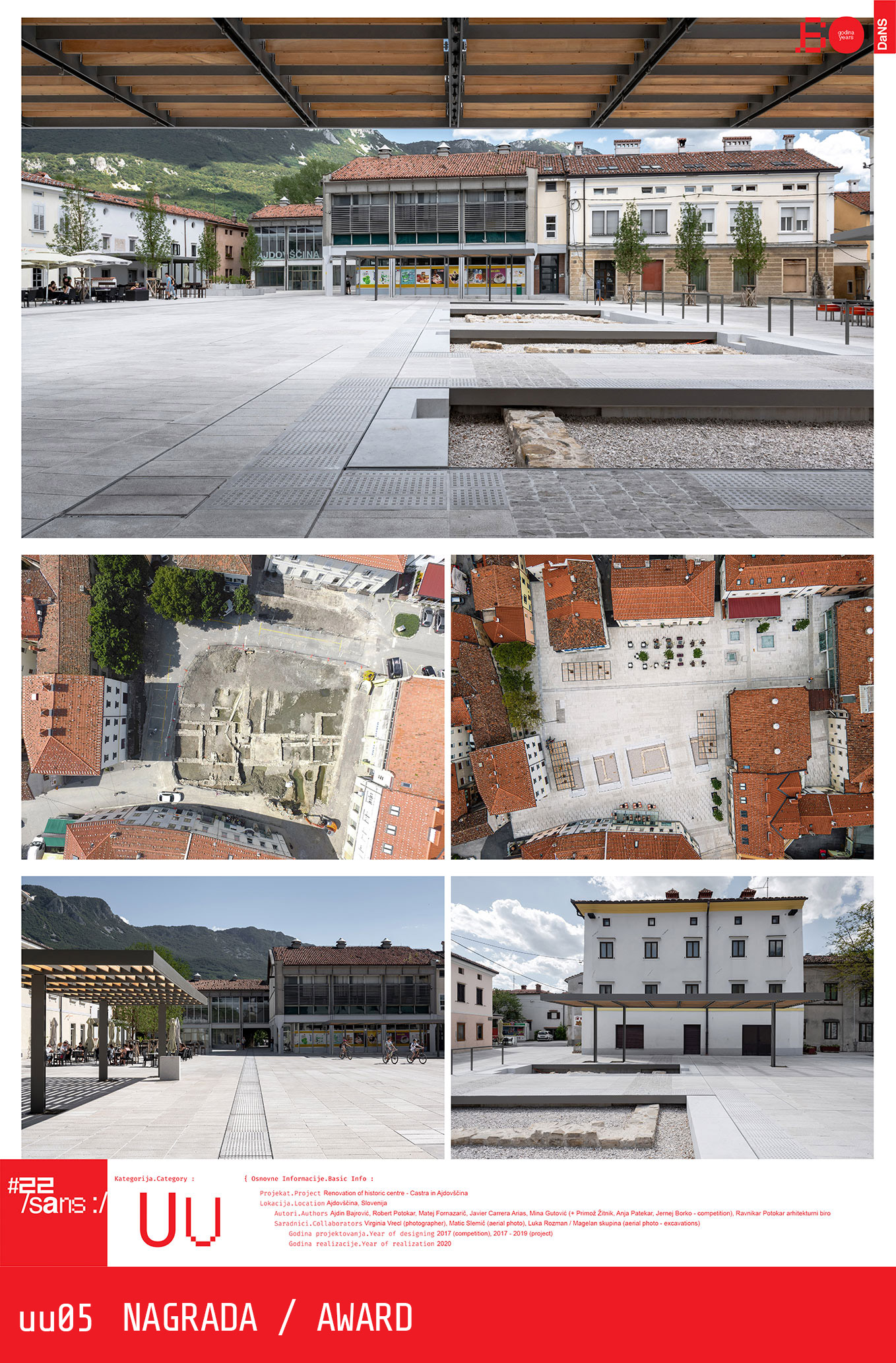 "<p class=""naslov-br"">uu05</p>Renovacija istorijskog centra – Kastra u Ajdovšćini // Renovation of the historic centre - Castrain Ajdovščina"