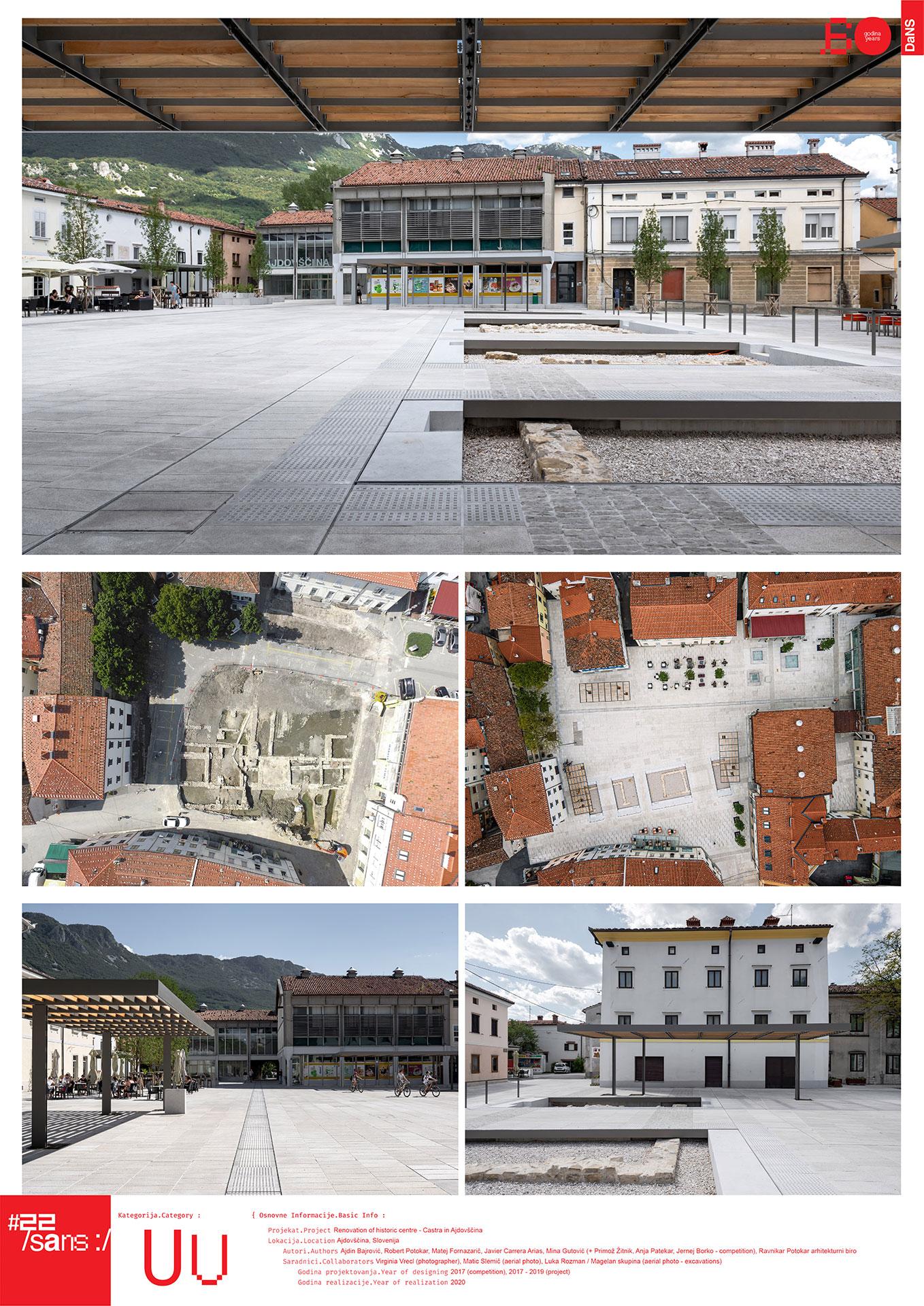 Renovacija istorijskog centra – Kastra u Ajdovšćini // Renovation of the historic centre - Castrain Ajdovščina